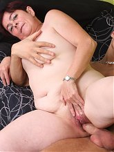 Simone is a horny granny with a huge appetite for big fat cocks and loves sucking it off