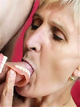 Slutty granny Irene hooks up with her boyfriend and welcomes his cock in her mouth and pussy